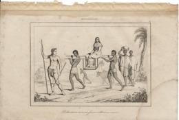 MADAGASCAR ROHANDRIAN AVEC SA FEMME ALLANT EN VISITE 1835 INCISIONE DI LEMAITRE - Prints & Engravings