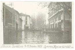 Cpa Avignon - Carte-photo Inondations 1935 - Quartier Monclar - Avignon