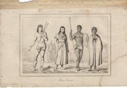 MADAGASCAR RACES VARIEES 1835 INCISIONE DI LEMAITRE - Prints & Engravings