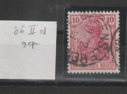 DR MNr. 86 II D Gest. Geprüft - Used Stamps