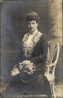 Cp Alexandra Von Dänemark, Reine Von Großbritannien, Portrait - Familles Royales