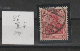 DR MNr. 86 II F Gest. Geprüft - Used Stamps