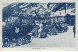 74 CHAMONIX MONT BLANC SPORTS D HIVER TAILING EN AUTOCHENILLE  Editeur MONNIER 159 - Chamonix-Mont-Blanc