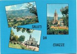 COAZZE (m. 770) - Panorama - Chiesa Parrocchiale - Campanile Storico -vedute - Altre Città