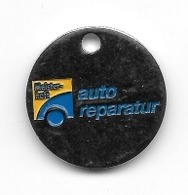 Jeton De Caddie  Automobile  Meister - Haft  Auto  Réparateur  Verso  Idem - Trolley Token/Shopping Trolley Chip