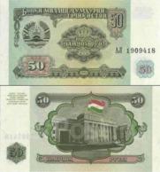 10 Pieces Tajikistan 50 Rubles 1994 UNC - Afghanistan