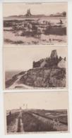 AB231 - LOT 3 Cartes SAINT VAAST LA HOUGUE - Pêche à Marée Basse -Montagne La Pernelle Et L'Eglise - Chemin De La Hougue - Saint Vaast La Hougue