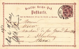 Enter Postale Du Reich Occupation De Metz 1873 - Metz