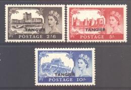 Morocco Agencies Tangier Scott 576/578 - SG310/312, 1955 Castles Set 2/6d - 10/- MNH** - Oficinas En  Marruecos / Tanger : (...-1958