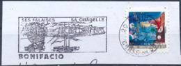 France - Meilleurs Voeux 2009 - YT A382 Obl. Flamme Bonifacio Et Dateur Rond Sur Fragment - Francia
