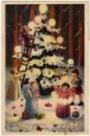 BUON NATALE - ANGELI E BAMBINI - 1959 - Vedi Retro - Formato Piccolo - Santa Claus