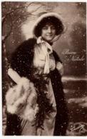 BUON NATALE - FOTO DI RAGAZZA - 1926 - Vedi Retro - Formato Piccolo - Santa Claus