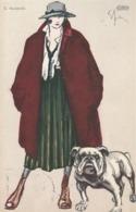 2 Cartoline - Postcard /   Viaggiate / Sent -  /  Donnina - Illustratore E. Sacchetti - Vrouwen