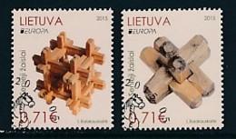LITAUEN Mi.NR 1187-1188  Europa - Historisches Spielzeug -2015 - Used - Europa-CEPT