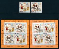 RUMÄNIEN Mi.NR. 6950-6951, Block 624 I, 624 II  Europa  Europa - Historisches Spielzeug -2015 - Used - Europa-CEPT