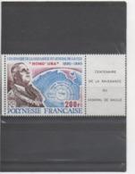 POLYNESIE Française - Général DE GAULLE : 100 Ans De Sa Naissance - - Polynésie Française