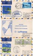 LUFTHANSA FLIGHT IN COMMEMORATION OF THE SOUTH ATLANTIC SERVICE / FRANKFURT-BATHURST (GAMBIA) - RIO DE JANEIRO-1970 - Aerei