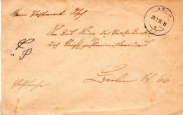"""Sudetenland 1939, Brief Postsache  TS ASCH UB """"a"""" 20.1.39 Gelaufen Nacn Berlin W 66 - Sudetenland"""