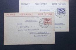 Haute Silesie: 2 X 1920 Postal Card To Berlin-Schoneberg-No Messages On Back (#DU2) - Schlesien (Ober- Und Nieder-)
