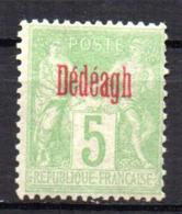 Col17  Colonie Dédéagh N° 2 Neuf X MH  Cote 19,00€ - Neufs