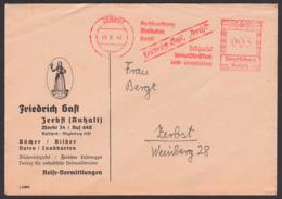 Germany Zerbst AFS 1943 'Friedrich Gast Buchhaltung Musikalien Heimatschrifttum!' Bücher Bilder Noten Drucksache - Germania