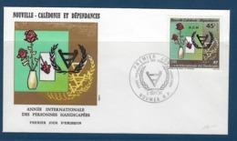 """Nle-Caledonie FDC YT 451 """" Handicapés """" Enveloppe Du 2 SEPT. 81 Nouméa - Nouvelle-Calédonie"""