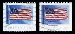 Etats-Unis / United States (Scott No.5342-3 - FLAG Coil 2 Diff. Perfortionn) (o) - Etats-Unis