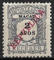 Macao Macau – 1911 Revenues Overprinted REPUBLICA - Nuovi