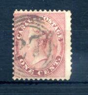 1859-64 CANADA N.12 USATO 2 Centesimi Rosa - 1851-1902 Regno Di Victoria