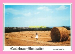 CPM  Castelnau - Montratier La Moisson à Féral - Figeac