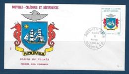 """Nle-Caledonie FDC YT 486 """" Blason """" Enveloppe Du 11.4.84 Nouméa - Nouvelle-Calédonie"""