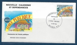 """Nle-Caledonie FDC YT 490 """" Ecole Publique """" Enveloppe Du 11.10.84 Nouméa - New Caledonia"""