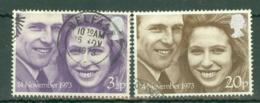 G.B.: 1973   Royal Wedding  Used - 1952-.... (Elizabeth II)