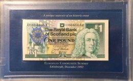 Scotland 1 Pound, P-356 (8.12.1992) - UNC - Collectors Box And Booklet - Scarce - Scozia