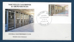 """Nle-Caledonie FDC YT 502 """" Central Téléphonique """" Enveloppe 24.4.85 Nouméa - Briefe U. Dokumente"""