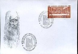 45539 Italia, Special Postmark Genova  2019, Tribute To Leonardo Da Vinci - Art