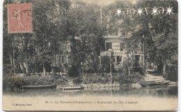 1906 Île D'Amour (Chennevières) - Restaurant F Lord Pecheur - Ed P Marmuse 15 - A Voir Date Perforé Dans La Carte + - Chennevieres Sur Marne