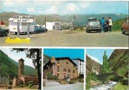 ANDORRE - Vues - Voiture : Citroen DS - Simca  - Renault 4L - Station Service TOTAL - Andorra
