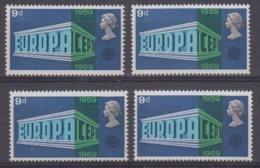 Europa Cept 1969 Great Britain 1v 4x ** Mnh (44968) - Europa-CEPT