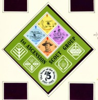 ASCENSION  -  1982 Scouts Miniature Sheet Unmounted/Never Hinged Mint - Ascension
