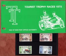 Satz Tourist-Trophy-Motorradrennen In Praesentationsmappe 1975 (80711) - Man (Insel)