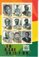 2007 Ghana Presidents Rawlings Miniature Sheet Of 9 MNH - Ghana (1957-...)