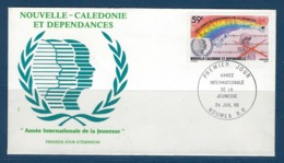 """Nle-Caledonie FDC YT 507 """" Année Jeunesse """" Enveloppe Du 24.7.85 Nouméa - Briefe U. Dokumente"""