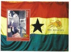 2007 Ghana Independence Anniversary Presidents  MNH - Ghana (1957-...)