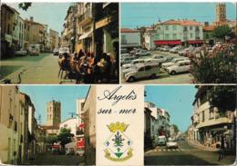 ARGELES SUR MER - Vues - Voiture : Citroen DS Ambulance - Simca - 2CV Fourgonnette - Renault 4L - R8 - R12 - Peugeot 404 - Argeles Sur Mer