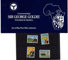 Satz Sir George Goldie Gruender Von Nigeria In Praesentationsmappe 1975 (80712) - Isle Of Man