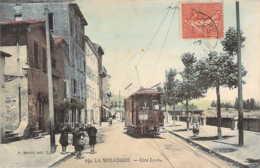 69 RHONE Le Tramway électrique De La Mulatière Sur Les Quais Côté Lyon - Autres Communes