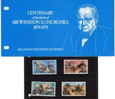 Satz Winston Churchill In Praesentationsmappe 1974 (80715) - Man (Insel)