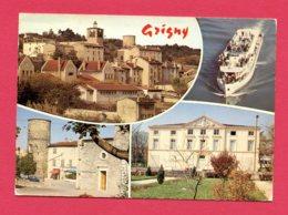 CP (Réf : Y824) R.410 GRIGNY (69 RHÔNE) C. 1410 MULTI VUES - Grigny