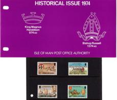 Satz Historische Ereignisse In Praesentationsmappe 1974 (80716) - Man (Insel)